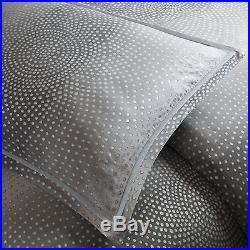 Metropolitan Home Shagreen Cotton 3-piece Modern Comforter Set Queen Grey