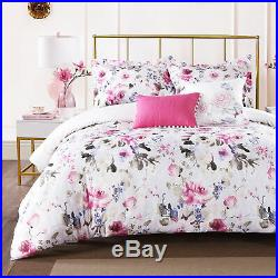 Mildura Floral Hypoallergic 5Pc Pink King, Queen Down Alternative Comforter Set
