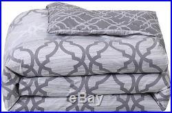 NEW Chrissy 5-Piece Comforter Set BEDDING BEDROOM GRAY/ GREY FULL/QUEEN SIZE