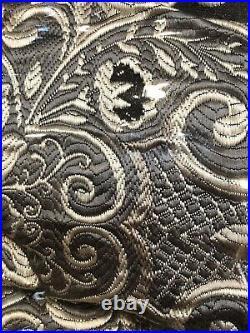NEW Comforter Set J. Queen New York VERA BLACK Bedskirt QUEEN 4pc Shams