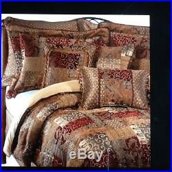 NEW Croscill Home Queen Red Galleria Comforter Set, NEW