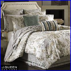 NEW J. Queen Seville NY New York 4 Piece Queen Comforter Set Shams Bedskirt