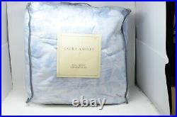 NEW Laura Ashley LIANA Blue/White Floral Botanical Full/Queen 3-pc Comforter Set