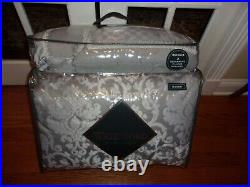 NIP Waterford Fine Linens Marchesa Gray Silver Queen Comforter Set 8pc