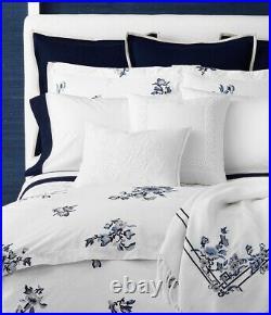 NWT $615 RALPH LAUREN Blanc Bleu Fallon 3P Full Queen Comforter Pillow Shams Set