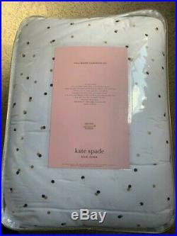 NWT Kate Spade New York Confetti Polka Dot 3-PC QUEEN Comforter SET White Multi