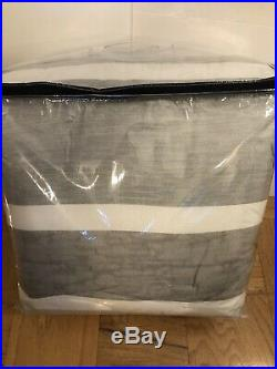 NWT Tommy Hilfiger WOODFORD STRIPE Full/Queen Size Comforter SET Gray White