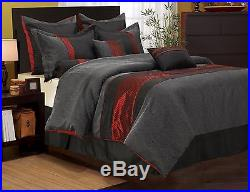 Nanshing Corell Comforter Set bed-in-a-bag 7-piece Red/Grey King/Queen Heavy