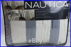 Nautica Home Fairwater Stripe 3-PC FULL/QUEEN Comforter & Shams Set Blue $298