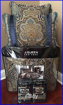 New 8 Pc J Queen Venezia Full Comforter Bedskirt Shams