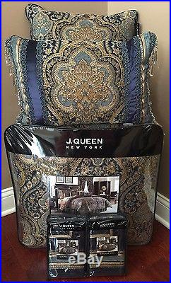 new 8pc j queen venezia full comforter bedskirt shams pillows bedding set
