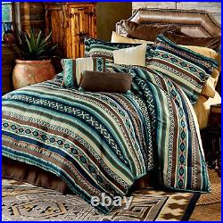 New! Brown Blue Teal Green Turquoise Rustic Southwest Country Comforter Set