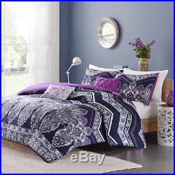 New! Cozy Chic Soft Purple Blue Teal Tropical Bohemian Southwest Comforter Set