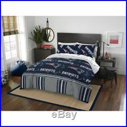 New England Patriots Comforter Set NFL 5pc Bed Bag Sheets Queen Licensed Bedding