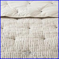 New HEARTH & HAND With MAGNOLIA SIMPLE STRIPE With STITCH COMFORTER SET F/Q Size