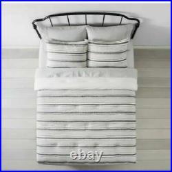 New Hearth & Hand Magnolia Textured Stripe Railroad Full Queen Comforter Set 3pc