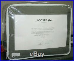 New Lacoste Full / Queen 3 pc Comforter Set Thames Grey