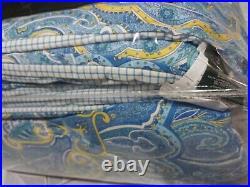 New Ralph Lauren Coral Beach Paisley Riviera Full/queen 4 Pc Comforter Set