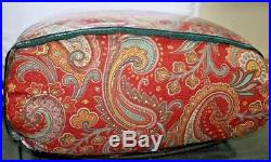 New Ralph Lauren Paisley Red Blue Queen Comforter & Shams Set 3pc