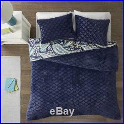 New! Ultra Plush Soft Blue Navy Teal Aqua Green Bohemian Global Comforter Set