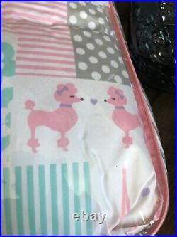 Nicole Miller kids Girls Queen Full 3 Pc Comforter Set Paris Eiffel Tower Poodle
