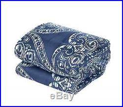 Oversized Overfilled Comforter Set Queen Navy New Home Bedding FREE SHIPPING