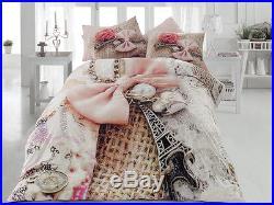 Paris Bedding Eiffel Tower 3D Quilt/Duvet Cover Set Full/Queen 7PCS + COMFORTER