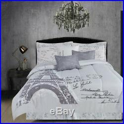 Paris Prints Microfiber Comforter Set 6pcs