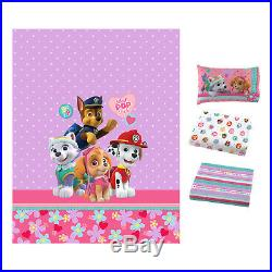 Paw Patrol Girl Full Size Bed Set Best Pup Pals 4 Piece Comforter Sheets 2daySH