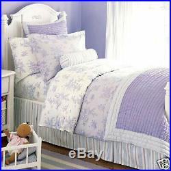 Pottery Barn Kids ISABELLE VOILE Lavender Full/Queen QUILT & SHAMS SET NEW purpl