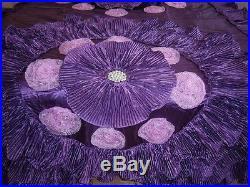 Purple Wedding Bedding Oversize Comforter Bedspread Quilts Set Queen or King