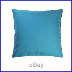 Queen Bed In A Bag Comforter Fitted Flat Curtain Pillow Set 24 Piece Teal White