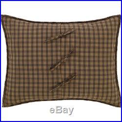 Queen Size 3 Pc Quilt Set Cedar Ridge Country Patchwork Cotton Comforter & Shams