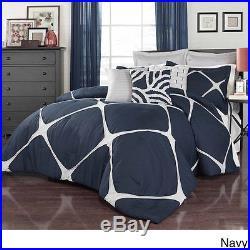 Queen Size 3-Piece Comforter Set Blue Bedding Microfiber Comforters Bedroom New