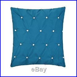 Queen Size Comforter Sheets Pillow Set Bed In A Bag 10 Piece Modern Teal Blue