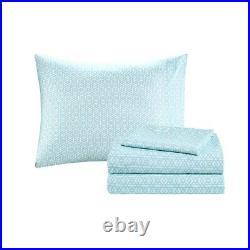 Queen Size Loretta Comforter and Sheet Set Micro Fiber Blue Intelligent Design