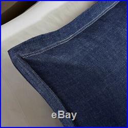 Queen Size Perry Oversized Denim Comforter Set Cotton Blue Woolrich WR10-2193