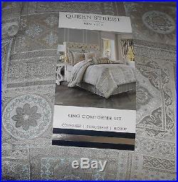 Queen Street Marissa Spa 4 Piece King Comforter Set NEW