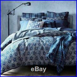 RALPH LAUREN Artisan Loft Moore Blue FULL/ QUEEN COMFORTER SHAMS 3P SET NEW