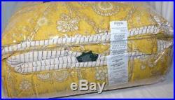 RALPH LAUREN Avery Paisley Golden Yellow 3PC QUEEN COMFORTER SET COTTON SUNSHINE