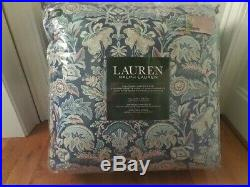 RALPH LAUREN Chapman Oriental Floral Blue 3P FULL/QUEEN COMFORTER SET NEW COTTON