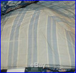 RALPH LAUREN Chapman Oriental Floral Blue 3P FULL/ QUEEN COMFORTER SET NEW SHAMS