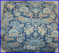 RALPH LAUREN Chapman Oriental Floral Blue 3P KING COMFORTER SET NEW COTTON