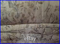 RALPH LAUREN Corso Campania QUEEN Comforter Set 3pc Taupe Blue Floral Scroll NWT