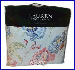 RALPH LAUREN Isadora Floral 3P FULL/ QUEEN COMFORTER SET NWT Red Blue Yellow