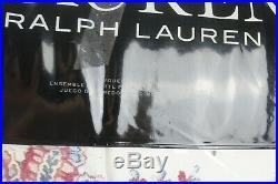 RALPH LAUREN Juliet Paisley 3-PC FULL/QUEEN Comforter & Shams Set Berry New