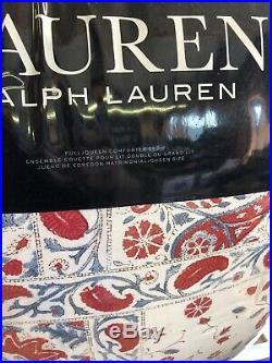 RALPH LAUREN Kelsey Bohemian Floral Paisley FULL/QUEEN COMFORTER SET