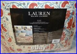 RALPH LAUREN Kelsey Bohemian Red Blue Cream Floral Paisley QUEEN COMFORTER SET