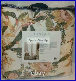 RALPH LAUREN Olivia Josefina Floral 3P FULL/ QUEEN COMFORTER SHAMS SET NEW $615