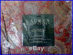 Ralph Lauren Piroutte Paisley Red Queen Comforter Set 4pc